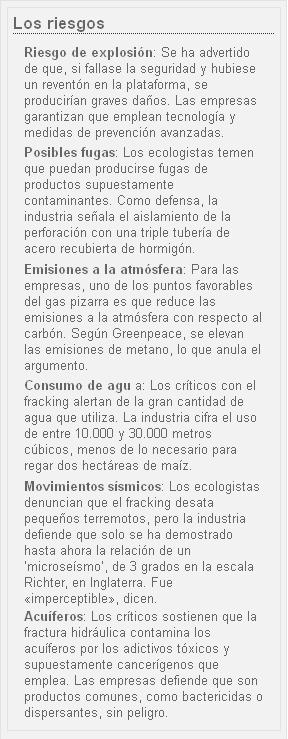 Riesgos Fracking