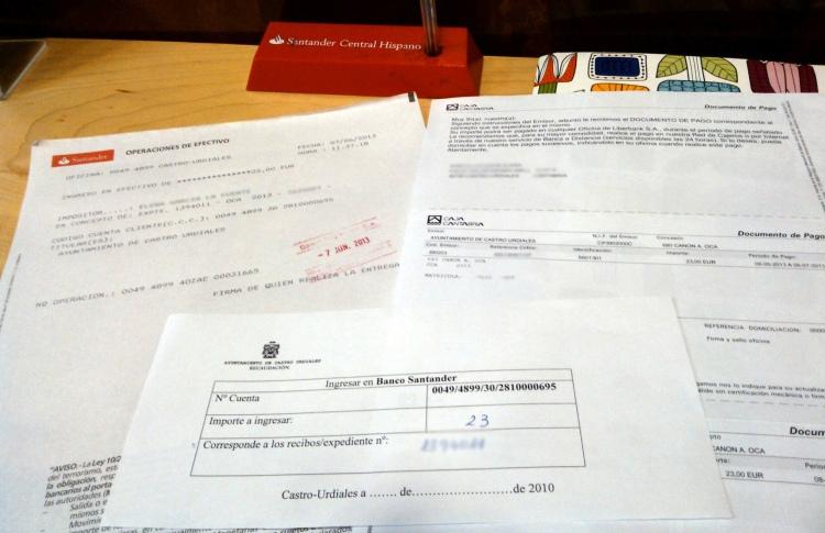 Pago OCA en Santander