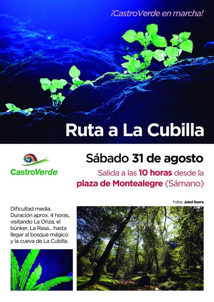Cartel ruta La Cubilla p