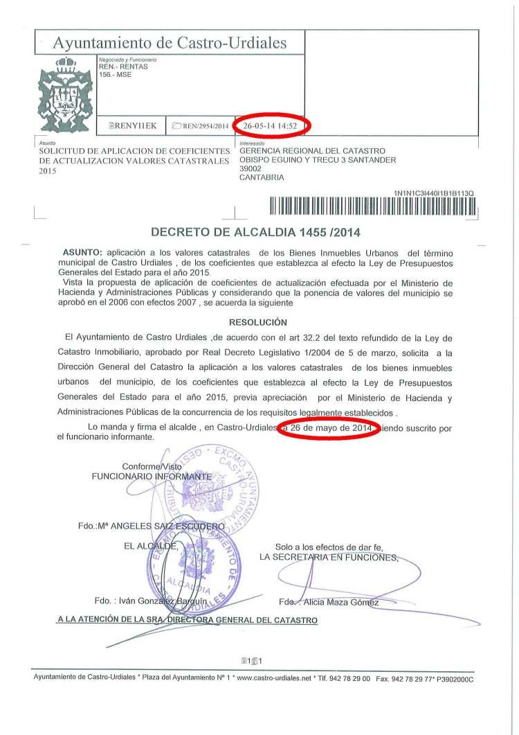 2014-05-26 decreto 1455 solcititud Catastro coef reductores