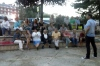Reunión semanal en la Plaza Félix Rodríguez de laFuente