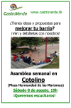 CastroVerde se reúne el próximo sábado enCotolino